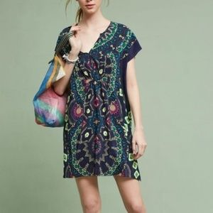 Anthropologie Maeve Medallions Silk Dress